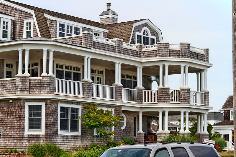 Magnificent, ocean side homes in Cape May, New Jersey.