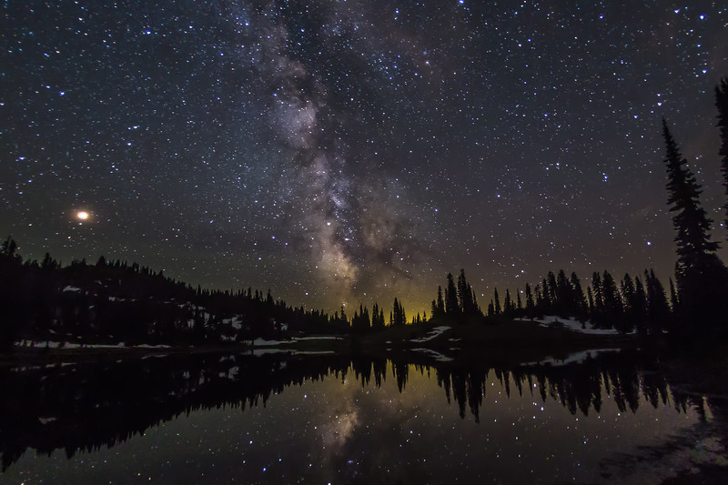 Milkyway - Tipsoo lake - Mt Rainier