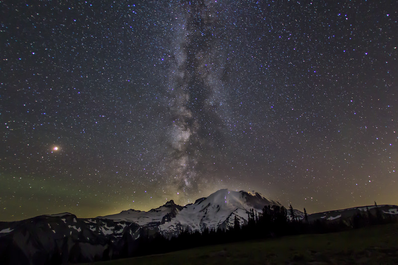 Milky way - Mt Rainier - Sunrise Point