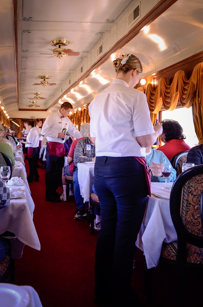 Lunch is served aboard the Wine Train