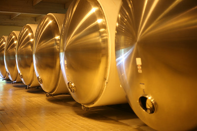 Fermenting tanks, Domaine Chandon, Napa Valley, California