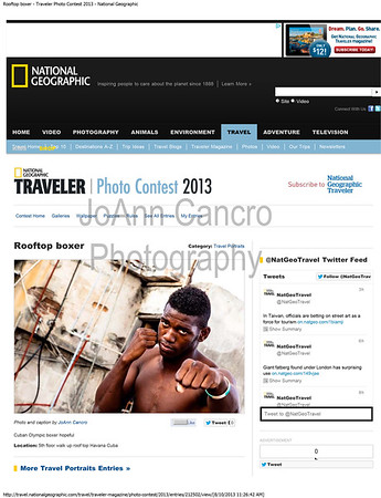 Rooftop boxer - Traveler Photo Contest 2013 - National Geographic