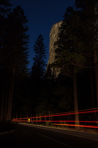 Light Trails at El Capitan - Yosemite