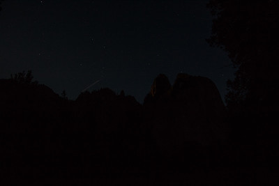 Nightscape of Yosemite Falls in Yosemite Valley