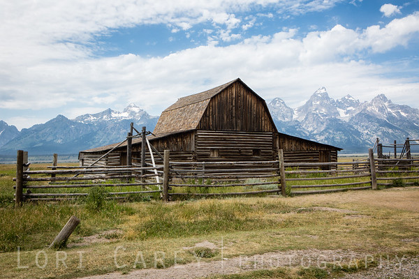 Barn at John Moulton homestead, Mormon Row Historic District, Grand Teton National Park
