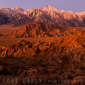 Dawn at Lone Pine Peak and the Alabama Hills