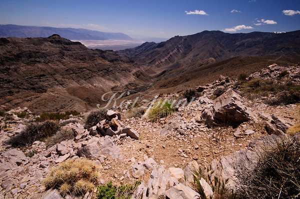A spectacular view of Death Valley opens up to those who dare to drive the gravel road up to Aguereberry Point at 6433 ft.