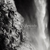 This is a detail shot of Bridalveil fall in Yosemite National Park, converted to black-and-white.