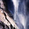This is a detail shot of Bridalveil fall in Yosemite National Park.