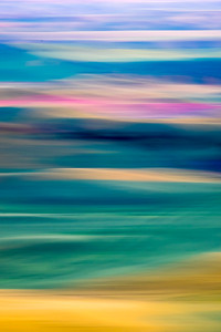 Abstract image of colorful fields in Palouse Washington