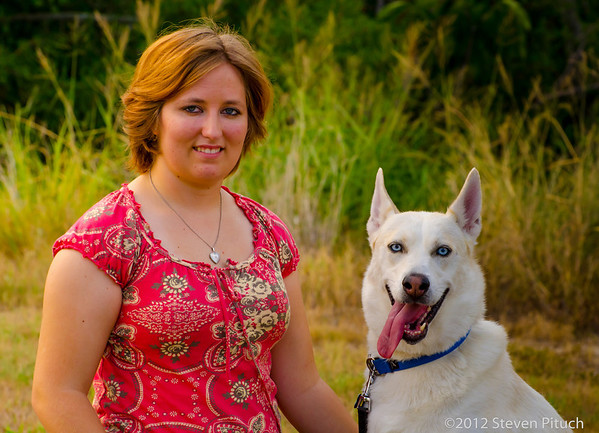 9/1/2012 - Elizabeth Craver and Wolfe (Therapy Dog).
