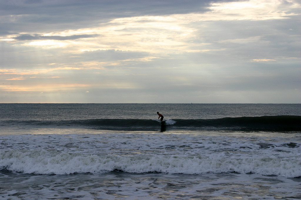 Surfer At Carolina Beach