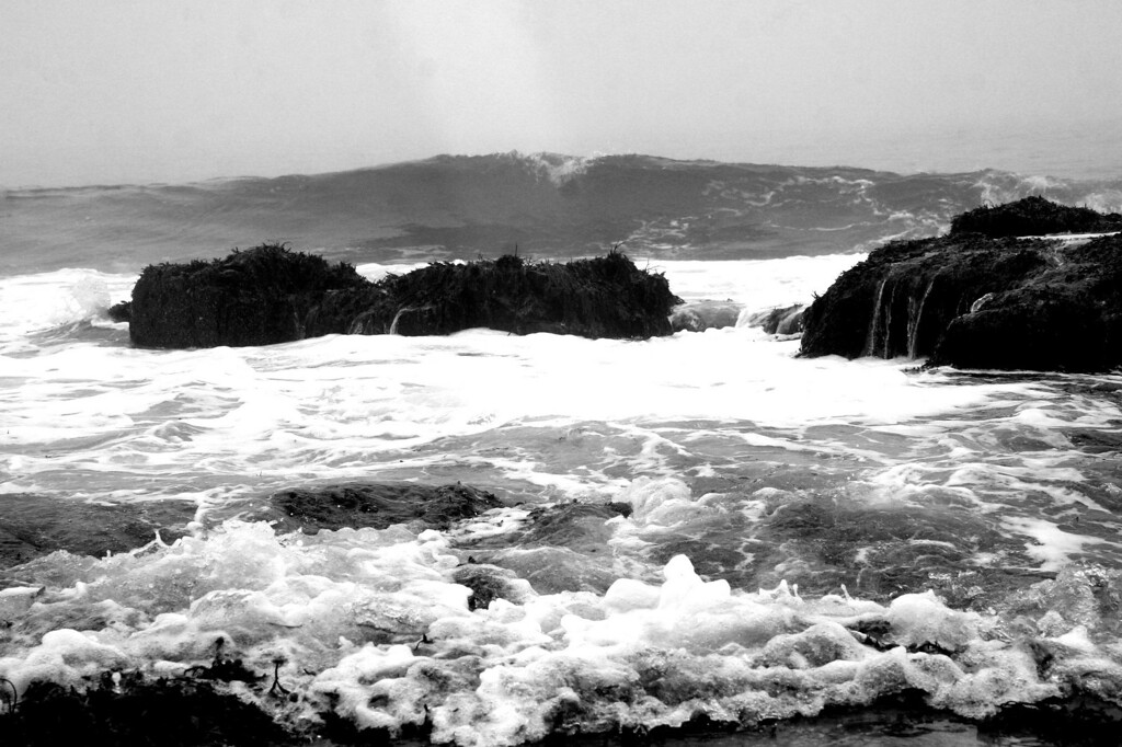 Waves on stormy day at Seawall