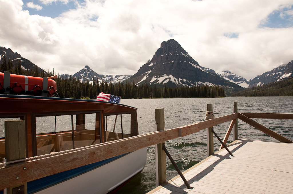 Sinopah Mountain at Two Medicine Lake in Glacier National Park
