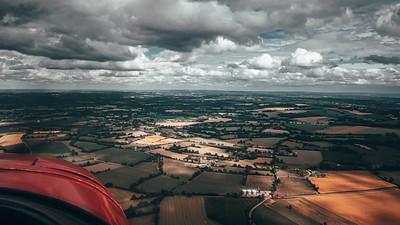 La campagne vue du ciel