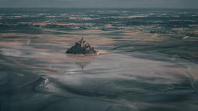 Le Mont Saint Michel vu d'en haut