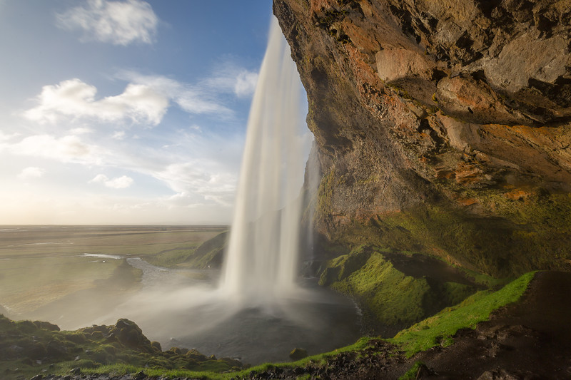 Seljalandsfoss in High Wind