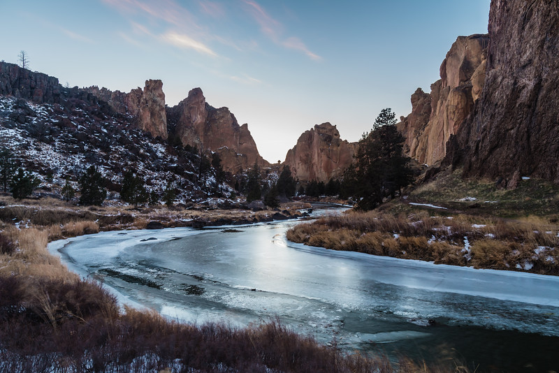Cold at Smith Rock State Park