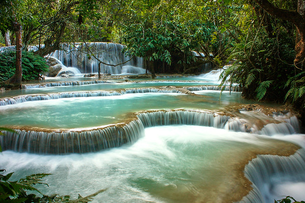 Magical Kuang Si Waterfalls