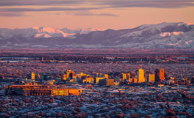 Looking over Christchurch