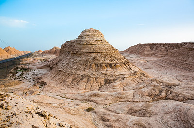 Natural pyramid (Yadan) landscape near Kuche