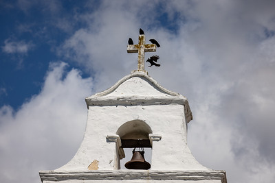 Four Crows on a White Cross