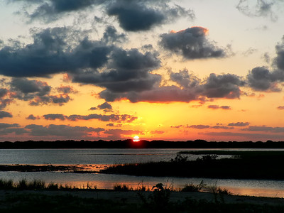 Sunset near Port O'Connor Texas