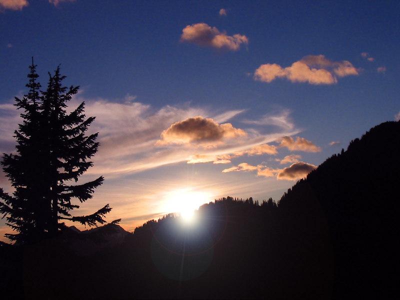Sunset from Glacier Peak Wilderness