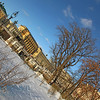 Moscow Landmark: Alexander Gardens, Moscow with snow