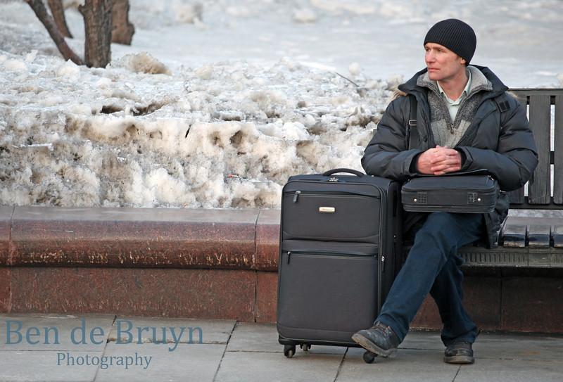 Feb 2013 Moscow Waiting near Bolshoi theater