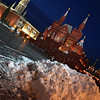 Moscow Landmark: State Historical Museum of Russia Winter