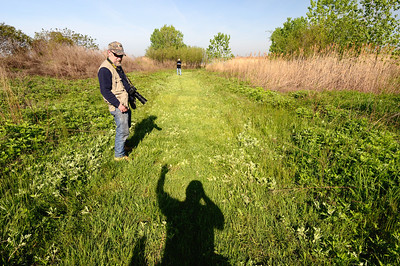 Denny talking to my Shadow - Cleveland Lakefront Nature Preserve