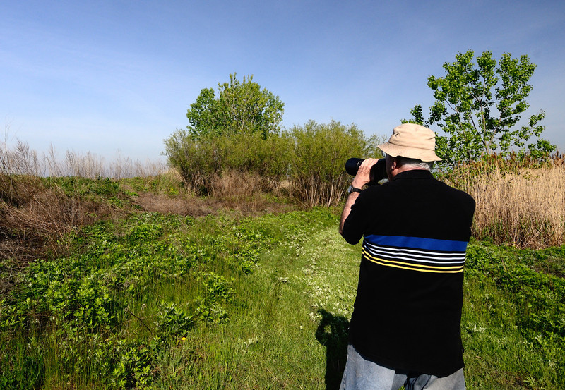 Photographer at the Cleveland Lakefront Nature Preserve