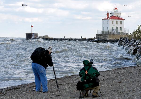 Bob and Joe taking Lighthouse photos -  Headlands Dunes