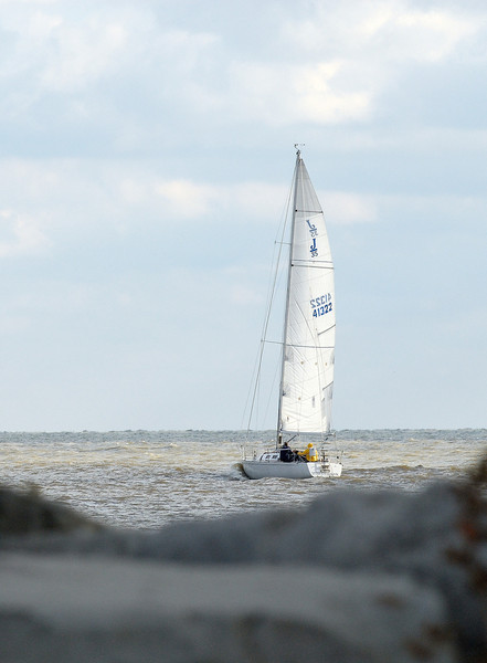 Sailboat on Lake Erie - Headlands State Park
