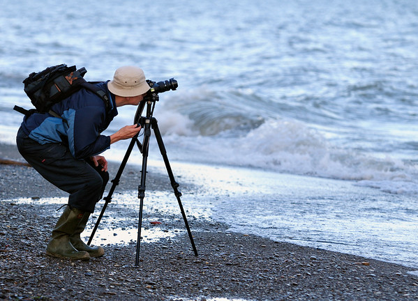 Photographer at Headlands Dunes Nature Preserve