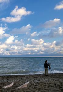 Photographer at Headlands Dunes Nature Preserve