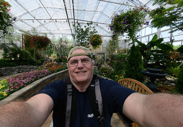 Ron at the Miller Nature Preserve Conservatory