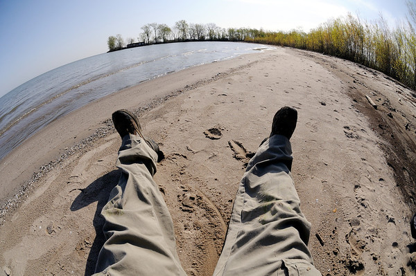 Me on the beach at Sheldon Marsh