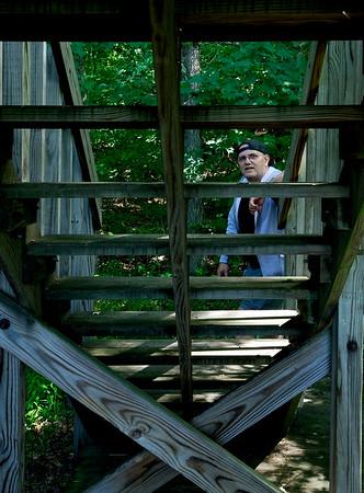 Me at the Eagle Creek Nature Preserve Observation Deck