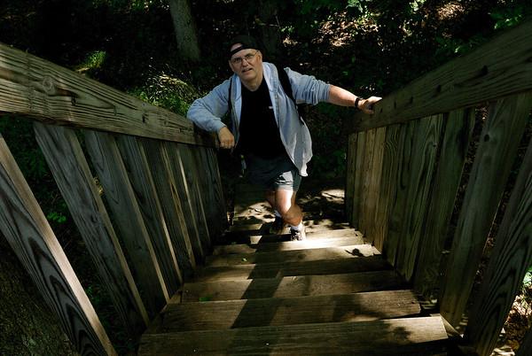 Me Climbing the Observation Deck - Eagle Creek Nature Preserve