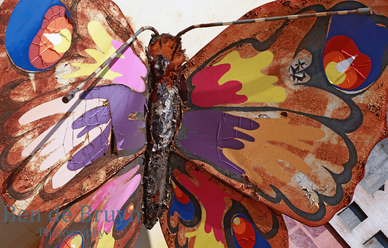 Rusted butterfly