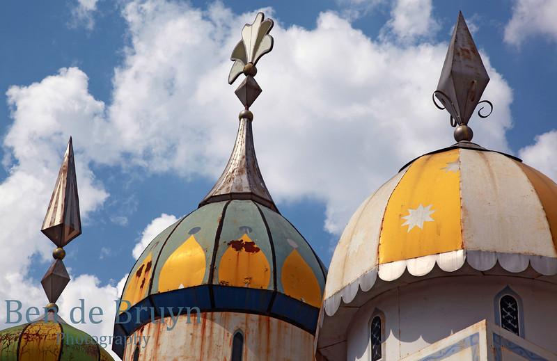 Izmaylovo market weather worn roofs