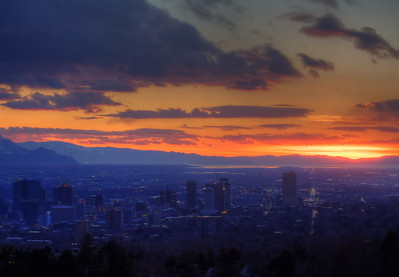 Early Evening in Salt Lake City