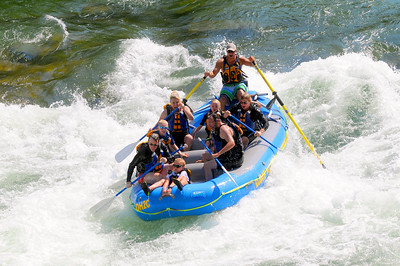 August, 2012  On the backside of the Big Kahuna rapid on the Snake River near Jackson (Hole) Wyoming.