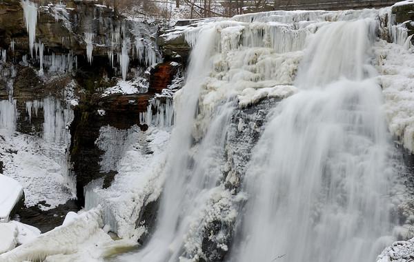 Frozen Brandywine Falls