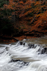 Chagrin River Waterfall