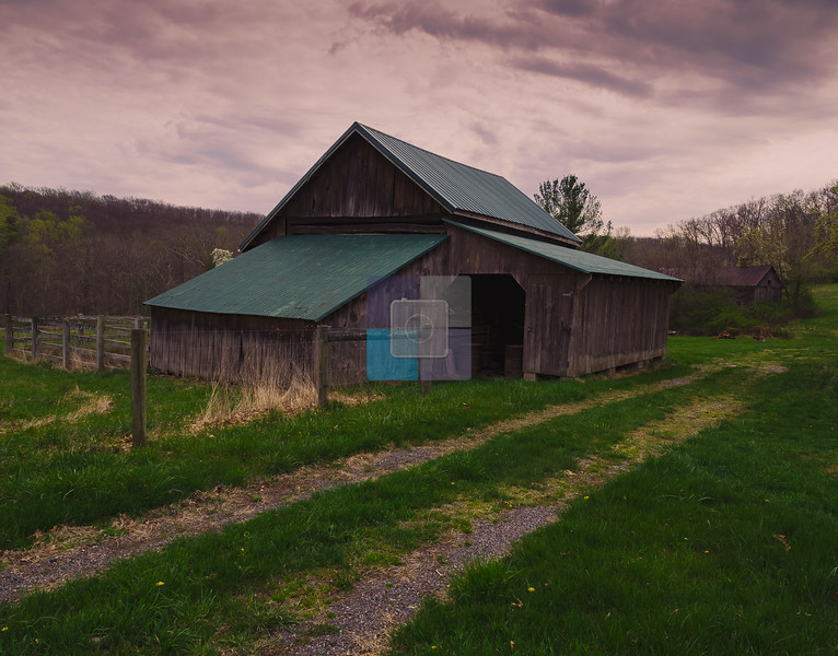 View of an old farm house, Catoctin Mountains, Maryland