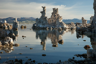 Mono Lake sunrise in summer.