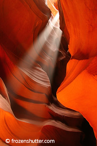 """Twin Beams""  Antelope Canyon - Page, Arizona"